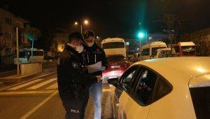 Yalova'da sokağa çıkma kısıtlamaları denetlendi