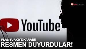 Youtube'dan flaş Türkiye kararı: Resmen duyurdular...