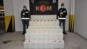 720 litre etil alkol ele geçirildi