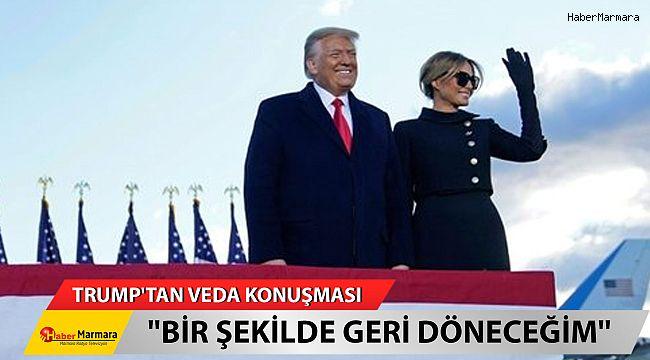 ABD Başkanı Trump'tan Beyaz Saray'a Veda!