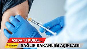 Aşıda 15 kural... Sağlık Bakanlığı açıkladı!
