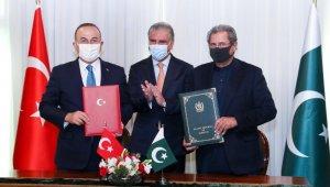 Bakan Çavuşoğlu, Pakistan'da Türk Vakfı'nın statüsü ve faaliyetlerine ilişkin mutabakat zaptını imzaladı