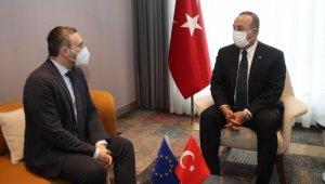 Bakan Çavuşoğlu, Türkiye-AB Karma Parlamento Komisyonu Eşbaşkanı Lagodinsky ile görüştü