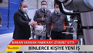 Bakan Varank, Ford Otosan'ın Kocaeli'deki fabrikalarını ziyaret etti