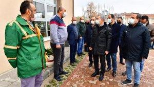 Başkan Çınar, temizlik ekipleriyle bir araya geldi