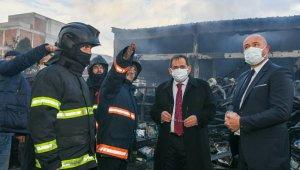 """Başkan Demir: """"Tesellimiz yangında yaralanma ve ölüm olmaması"""""""
