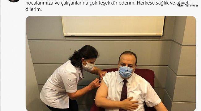 Bursa Valisi Canbolat korona aşısının 2. dozunu da yaptırdı