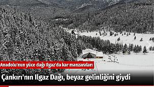 Çankırı'nın Ilgaz Dağı, beyaz gelinliğini giydi