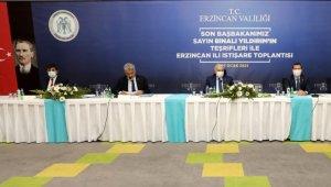 Erzincan'da Yıldırım başkanlığında istişare toplantısı düzenlendi