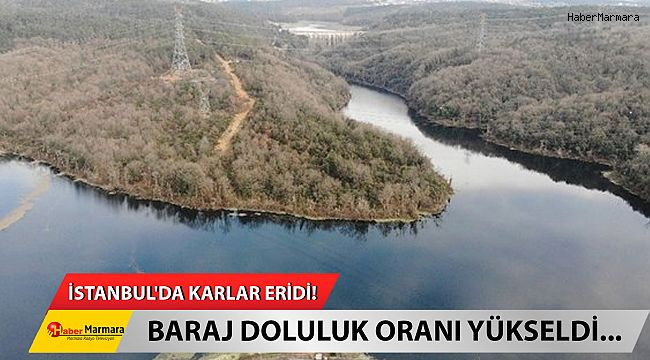 İstanbul'da karlar eridi! Baraj doluluk oranı yükseldi...