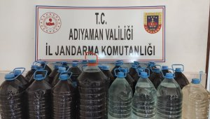 Jandarma 160 litre sahte içki ele geçirdi