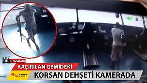 Kaçırıldığı gemideki korsan dehşeti kamerada