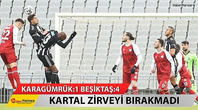 Kartal Zirveyi Bırakmadı... Fatih Karagümrük: 1 - Beşiktaş: 4