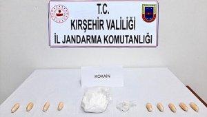 Kırşehir'de jandarma 208 gram kokain ele geçirdi