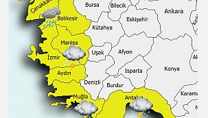 Meteorolojik Uyarı! Kıyı Ege ve Antalya'nın Doğusunda Kuvvetli Yağış Bekleniyor!