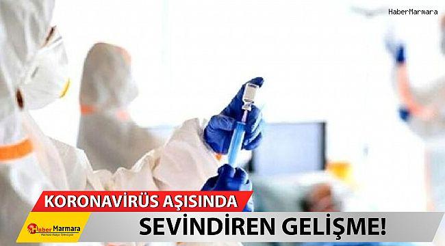 Koronavirüs aşısında sevindiren gelişme