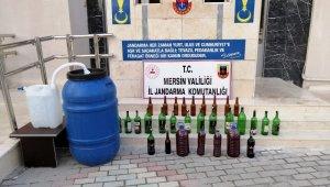 Mersin'de 239 litre kaçak içki ele geçirildi