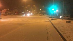 Osmaneli'de kar yağışı etkili oldu