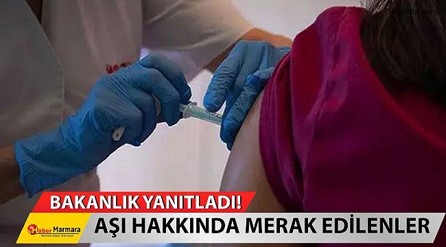 Sağlık Bakanlığı Yanıtladı! Aşı hakkında merak edilenleri açıkladı