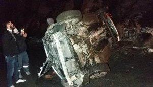 Samsun'da otomobil uçuruma yuvarlandı: 4 yaralı