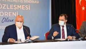 Süleymanpaşa Belediye işçilerinin sözleşme sevinci
