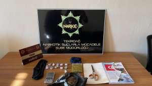 Tekirdağ'da uyuşturucu operasyonunda 1 gözaltı