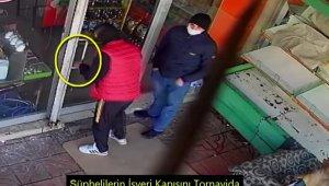 Tornavida ile kapıyı açarak marketi soydular