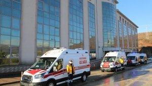 Tunceli'de 4 yeni ambulans hizmete girdi