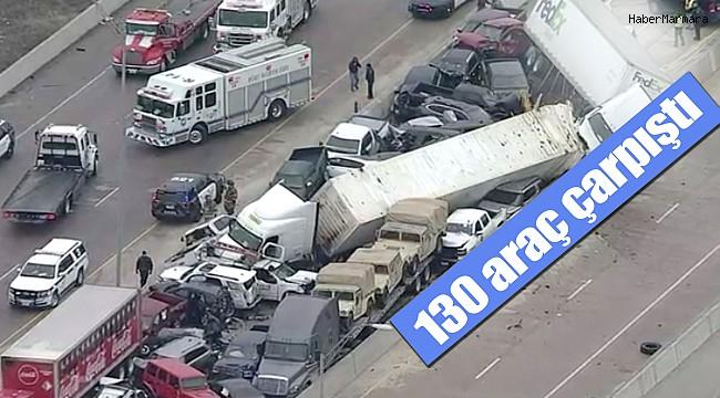 ABD'de ki Kazada Otoyol Araba Mezarlığına Döndü