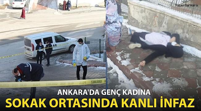 Ankara'da bir kadın sokak ortasında katledildi