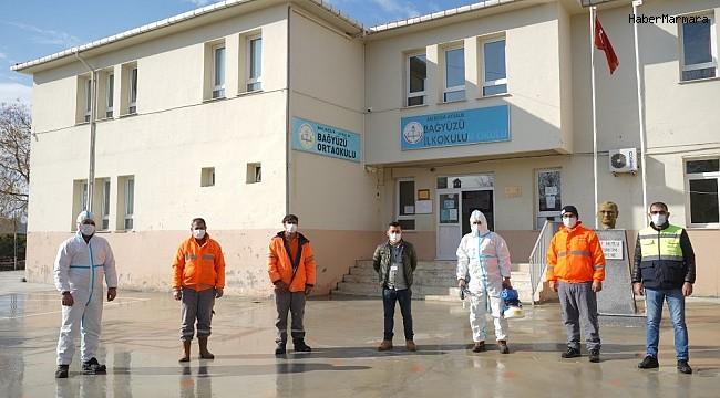 Ayvalık'ta köy okullarında dezenfeksiyon