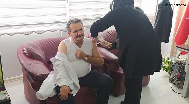 Başkan Koloğlu korona aşısını oldu