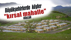 """Büyükşehirlerde köyler """"kırsal mahalle"""" olacak"""