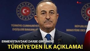 Ermenistan'daki darbe girişimine Türkiye'den ilk açıklama