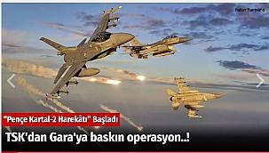 TSK'dan Gara'ya baskın operasyon..!