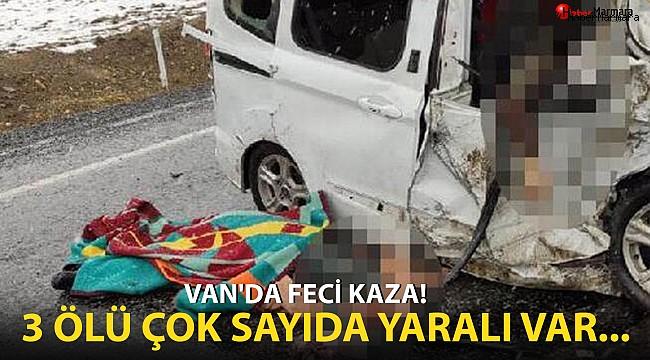 Van'da feci kaza! 3 ölü çok sayıda yaralı var...