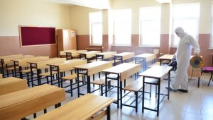 Yeşilyurt'ta ki okullar defezenfekte edildi