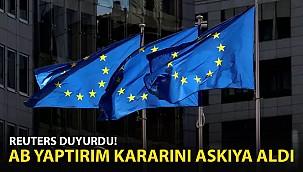 AB, Türkiye'ye Yaptırımı Askıya Aldı
