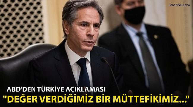 ABD'den Son Dakika Türkiye Açıklaması