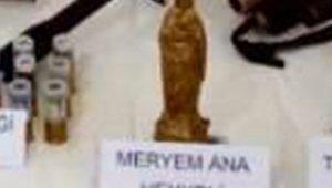"""Ardahan'da """"Meryem Ana"""" ve """"Artemis"""" heykelleri ele geçirildi"""