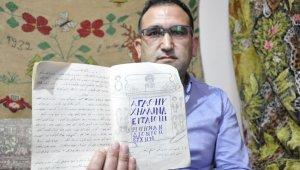 Bir asırlık şaşkına çeviren el yazması defter