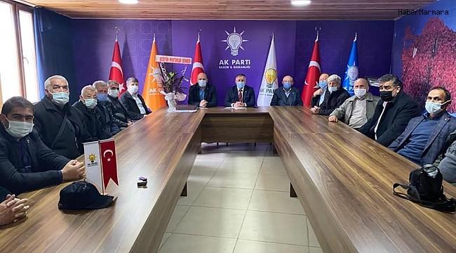 Bozüyüklü muhtarlardan AK Parti'ye ziyaret