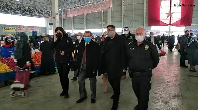 Çan'da artan vakaların ardından pazar yeri denetimleri arttırıldı