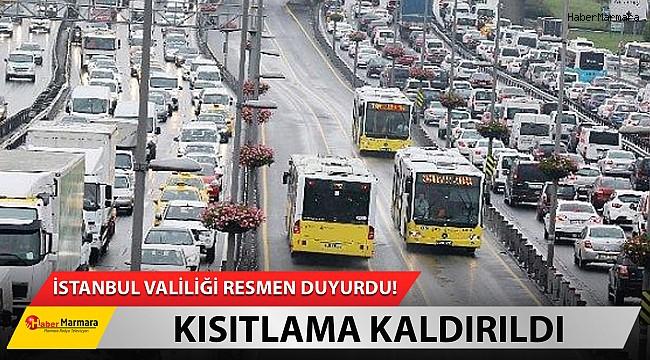İstanbul toplu taşımada kısıtlama kaldırıldı