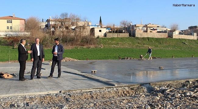 Kahta Kapalı Hayvan Pazarının zemin betonu tamamlandı