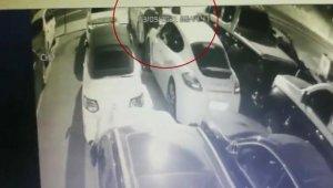 Kartal'da 'otomobilden far hırsızlığı' kamerada