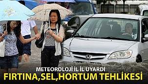 Meteoroloji İl İl Uyardı! Fırtına,Sel, Hortum Tehlikesi