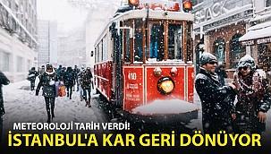 Meteoroloji Tarih Verdi! İstanbul'a Kar Geri Dönüyor!