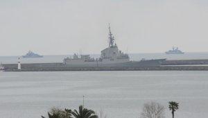 NATO gemileri Samsun'dan ayrıldı