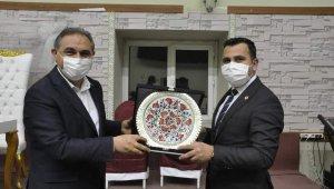 Sivas İl Özel İdaresi Genel Sekreterliği görevine atanan Algın'a Gürün'de veda programı düzenlendi